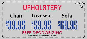 SteamMaster Upholstery Specials
